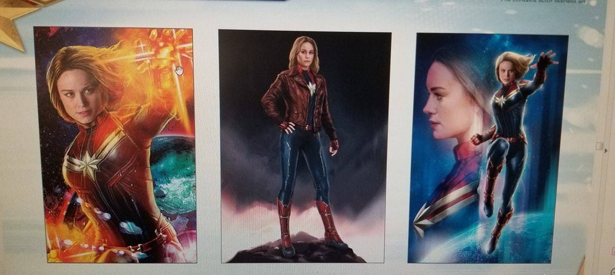 Captain Marvel, concept arts pour Avengers 4