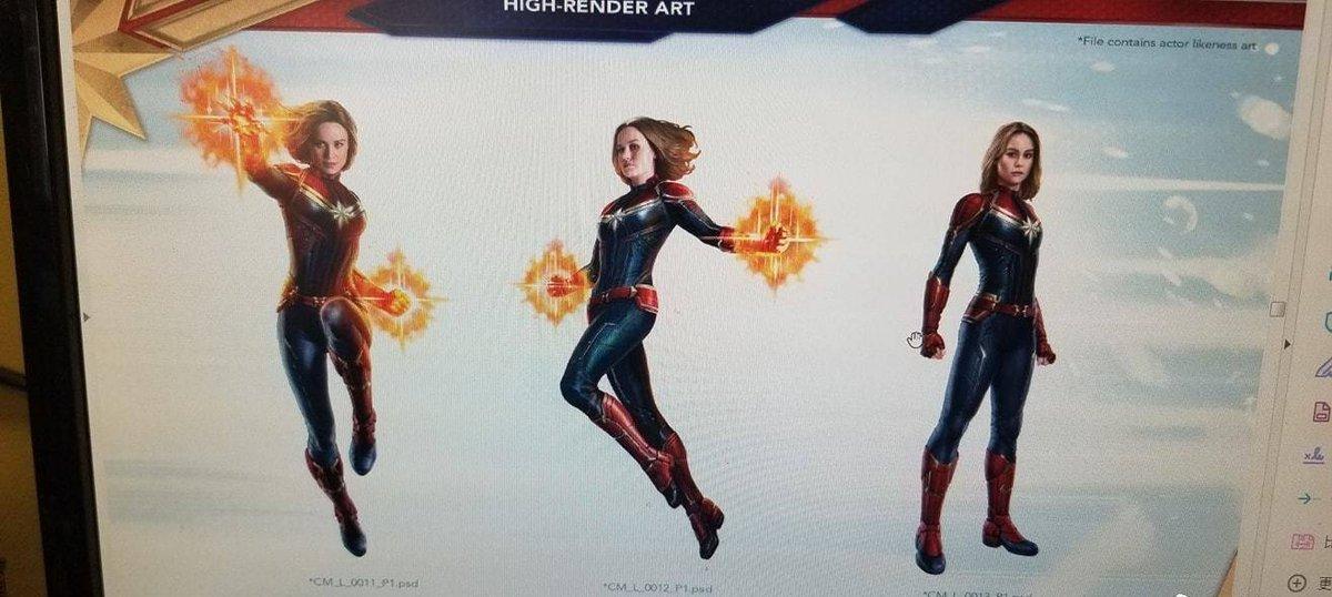 Captain Marvel, concept arts pour Avengers 4
