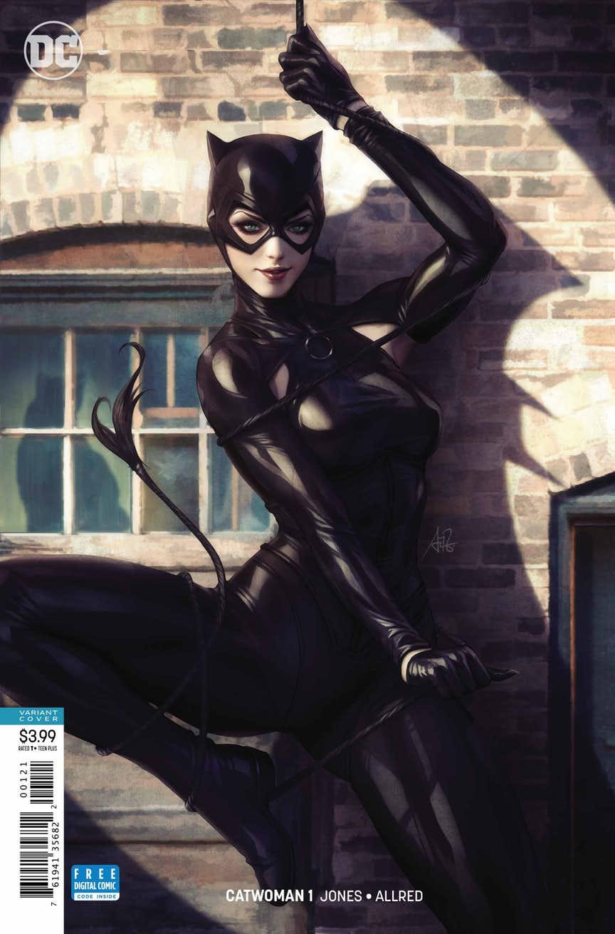 """Catwoman #1, couverture alternative par Stanley """"Artgerm"""" Lau"""