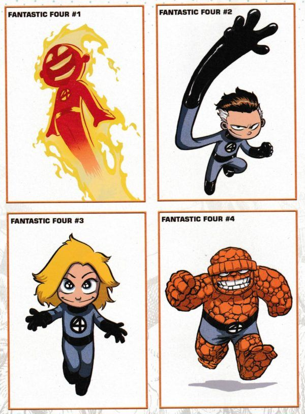 Fantastic Four #1 -couverture variante par Skottie Young