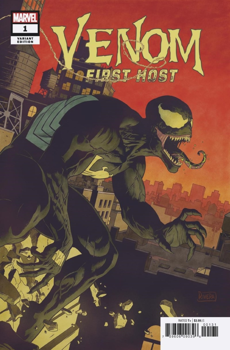 Venom: First Host #1, variant cover par Paolo Rivera