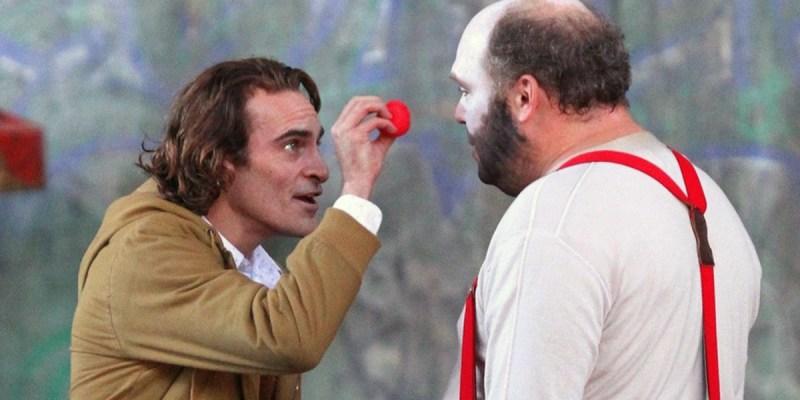 Joaquin Phoenix dans le rôle d'Arthur Fleck, sur le tournage du film Joker.