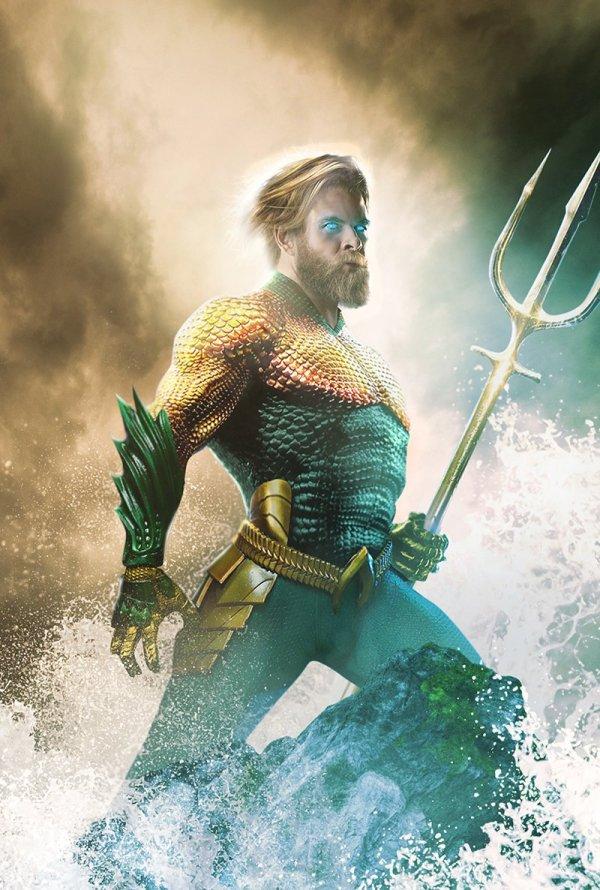 Chris Hemsworth est Aquaman, par Bosslogic