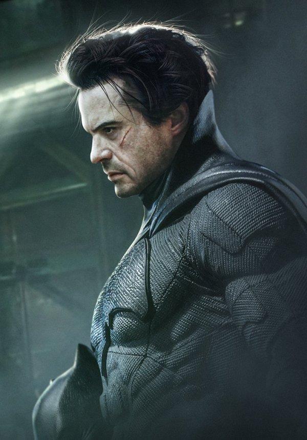 Robert Downey Jr. est Batman, par Bosslogic