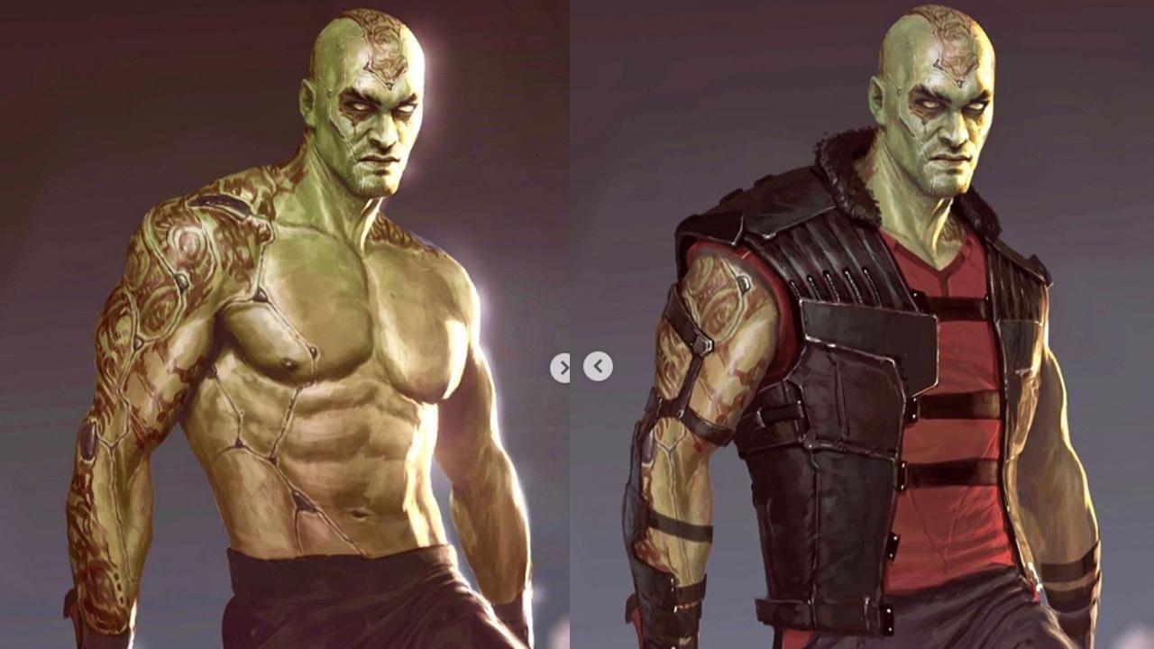 Jason Momoa dans le rôle de Drax le Destructeur par Charlie Wen