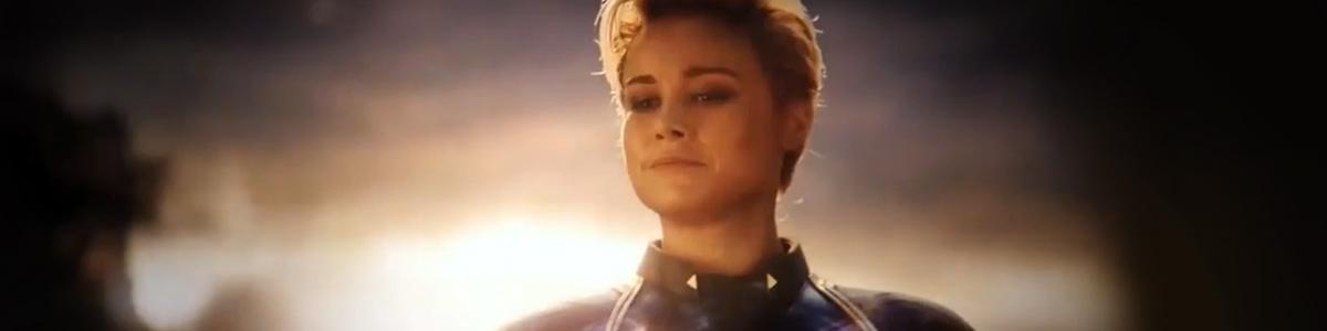Captain Marvel (Brie Larson) dans Avengers: Endgame