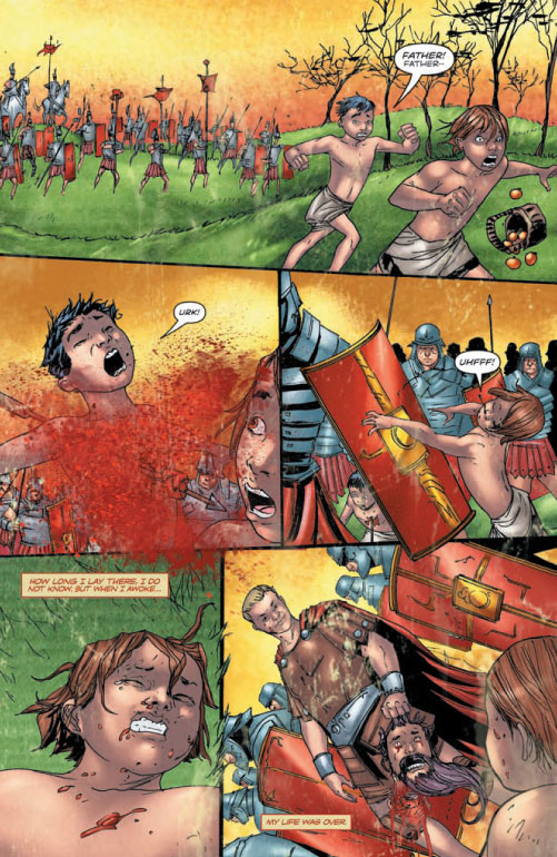 Spartacus Blood in the sand comic adaptation from DDP