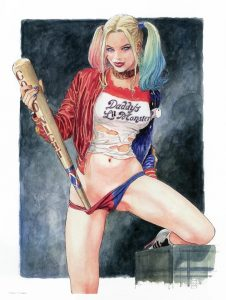 If Milo Manara did a variant cover for Harley Quinn this would have been it