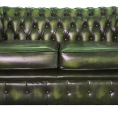 Sofa Bed Uk Under 100 Fabric For Sofas Chesterfield Pure Leather Two Seater Antique Green Vintage Supreme Genuine In