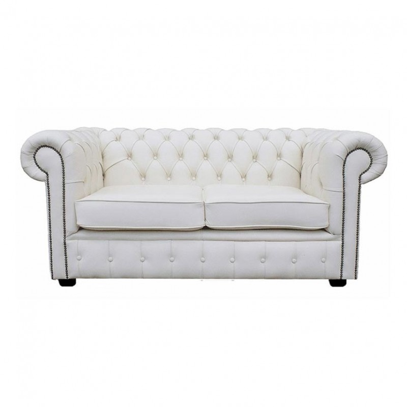 genuine leather sofa uk best sofas under 600 chesterfield shelly white two seater supersaveuk provides an exciting range of home furnishings chairs dining furniture bedroom and lots more