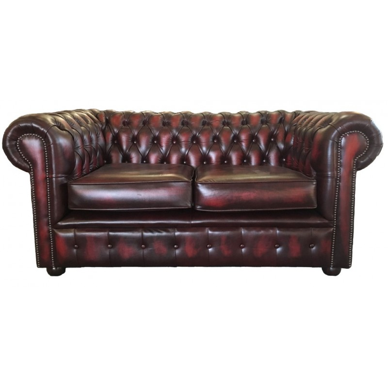 red leather two seater sofa all weather rattan chesterfield antique oxblood genuine supersaveuk provides an exciting range of home furnishings sofas chairs dining furniture bedroom and lots more