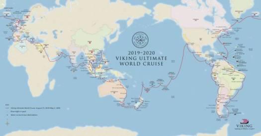 2019-2020 Viking Ultimate World Cruise Map