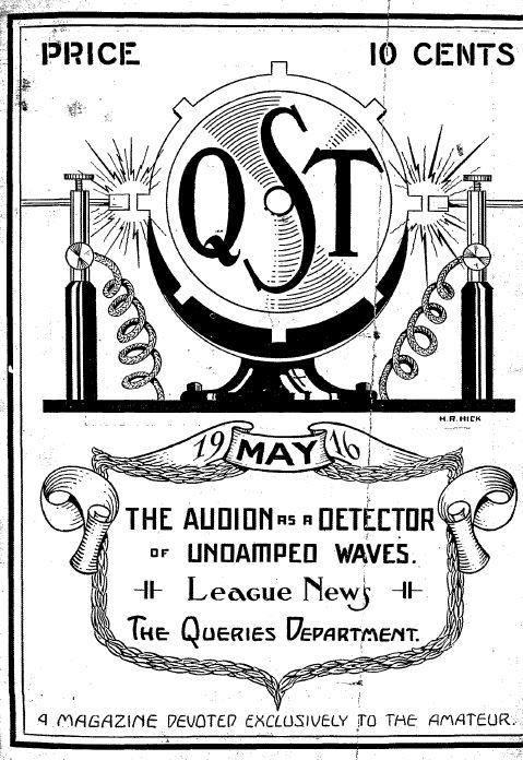 QST Magazine, Volume 1, 191 Vintage Old Time Ham Radio
