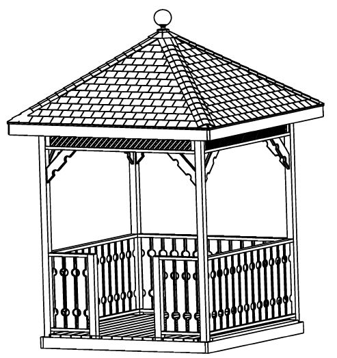 GAZEBO PLANS PACKAGE, 13 DIFFERENT ORIGINAL DESIGNS, STEP