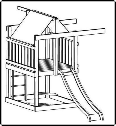 Custom Jungle Gym Plans, Basic Jungle Gym, step by step