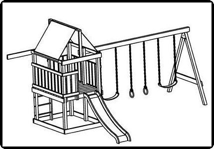 Custom Jungle Gym Plans, Deluxe Swing Set, Construction