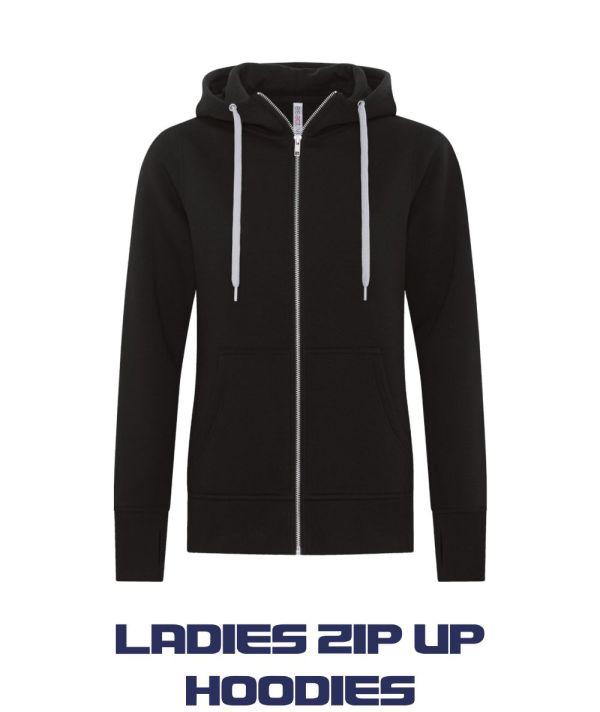 Ladies Zip up Hoodies