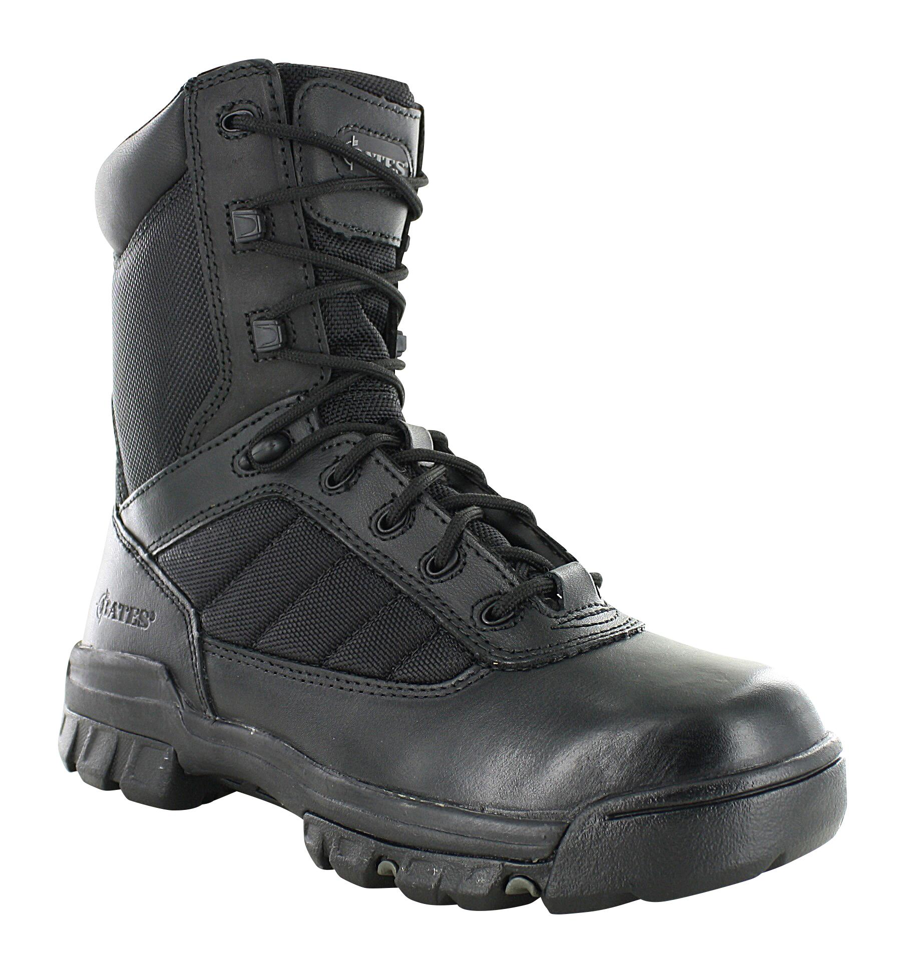 Womens Bates 8 Quot Tactical Side Zip Slip Resistant Black