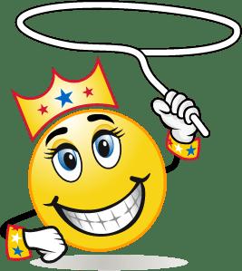 Smiley Face Queen Lasso