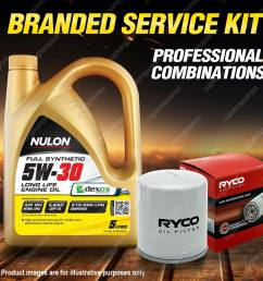 ryco oil filter 5l syn5w30 engine oil service for subaru impreza wrx liberty wrx [ 1600 x 1600 Pixel ]