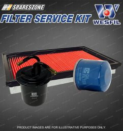 details about wesfil oil air fuel filter service kit for subaru forester sg9 2 5 impreza gg9 [ 1600 x 1600 Pixel ]