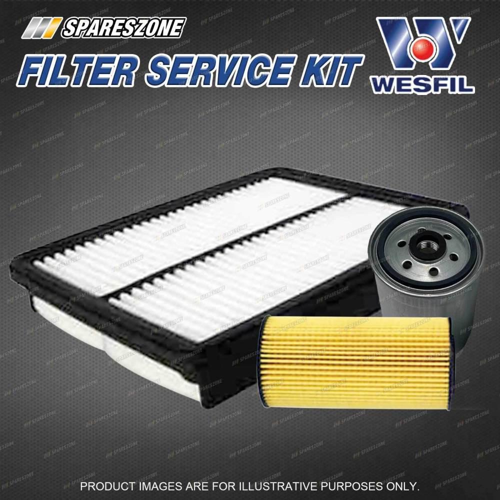 medium resolution of details about wesfil oil air fuel filter service kit for hyundai santa fe cm 2 2l crdi 09 12