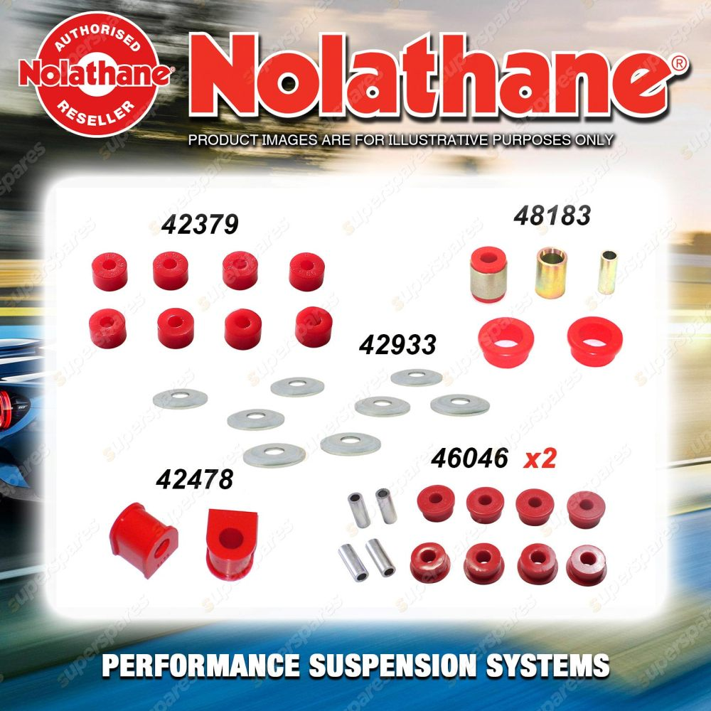 medium resolution of rear nolathane suspension bush kit for nissan pathfinder r50 4 6cyl 5 1995 2004