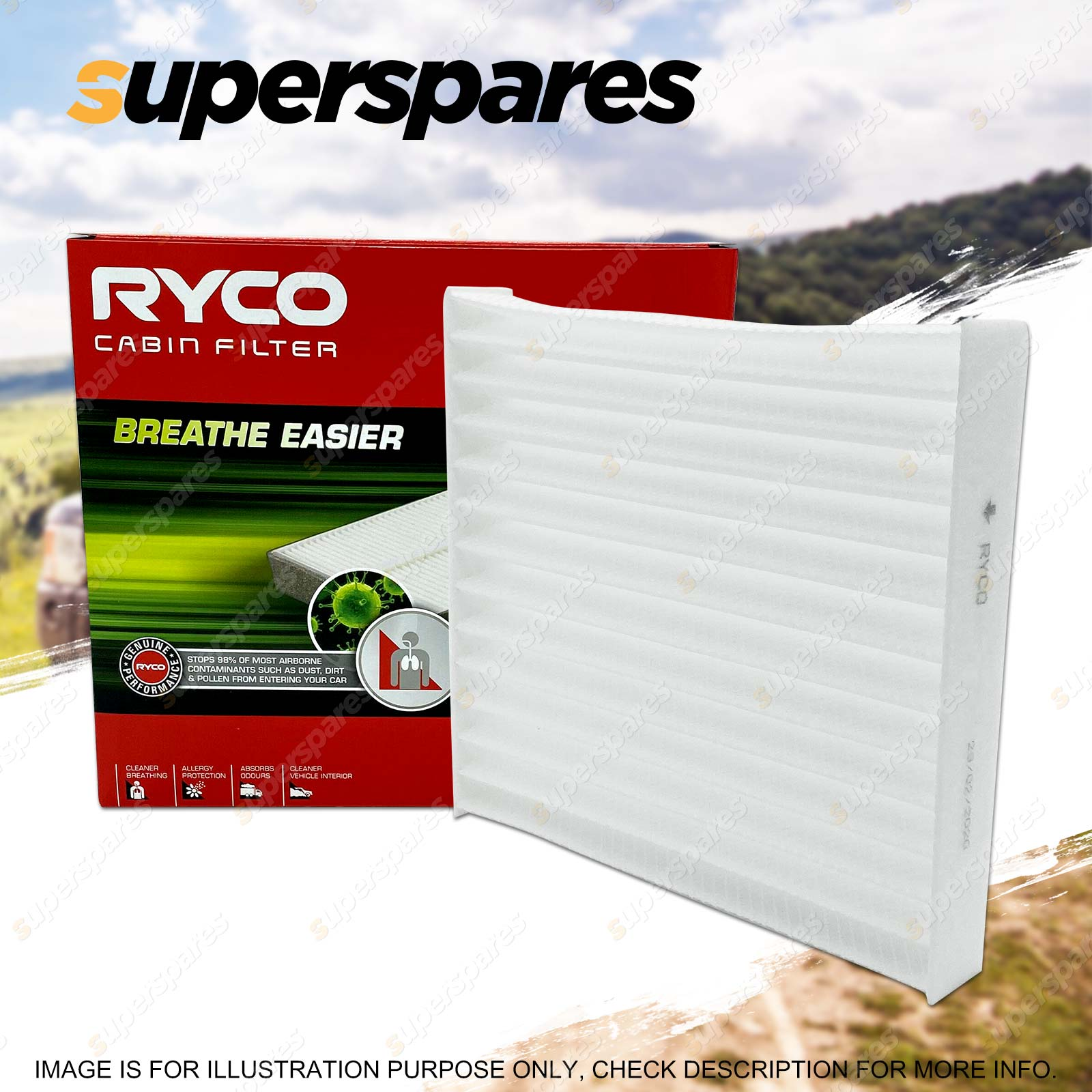 hight resolution of ryco cabin filter for mercedes benz e300d e320 e420 e36 e50 amg w210 w124