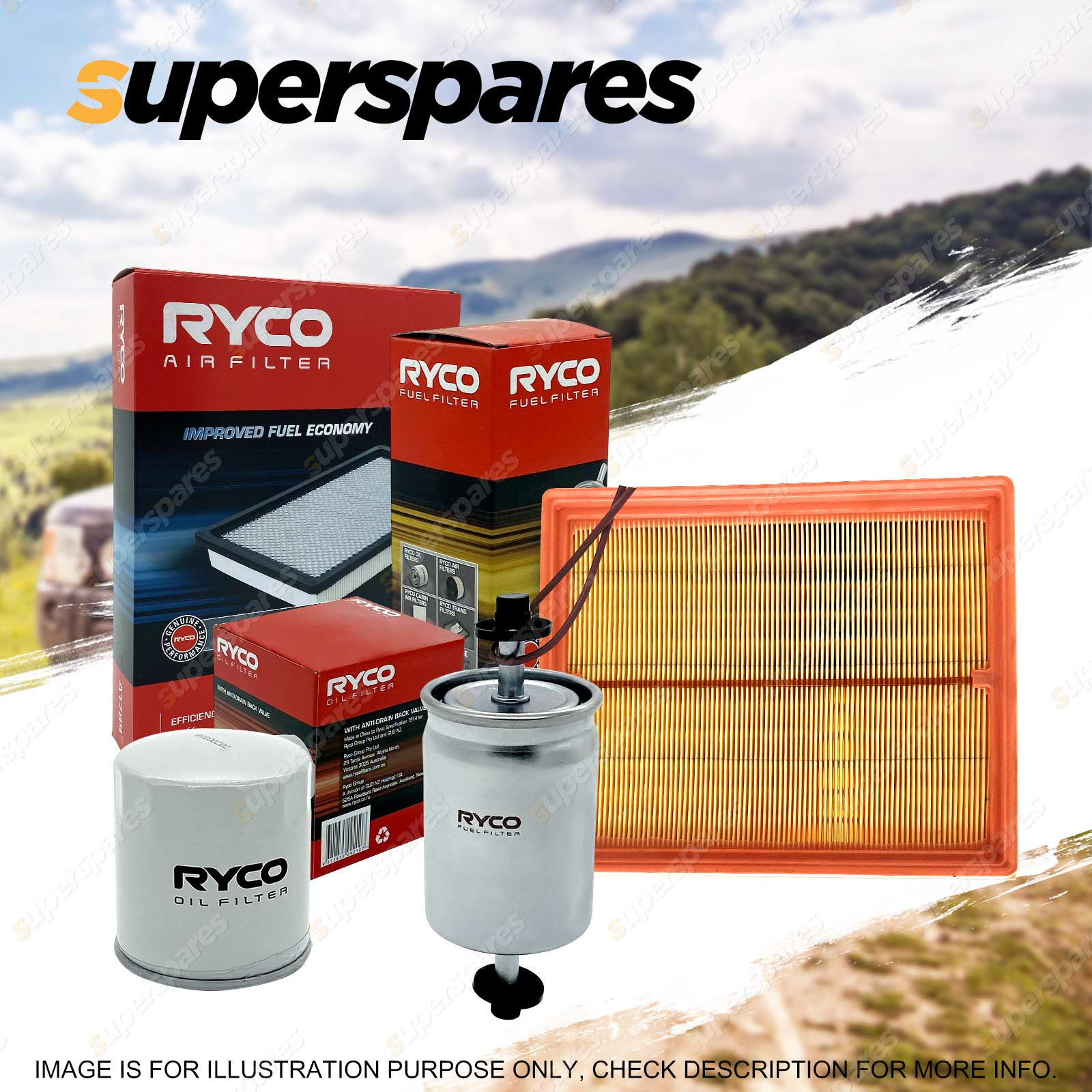 hight resolution of ryco oil air fuel filter service kit for mercedes benz c230 c240 c320 w203