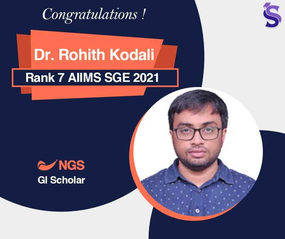 Dr. Rohith Kodali AIIMS SGE 2021 Topper