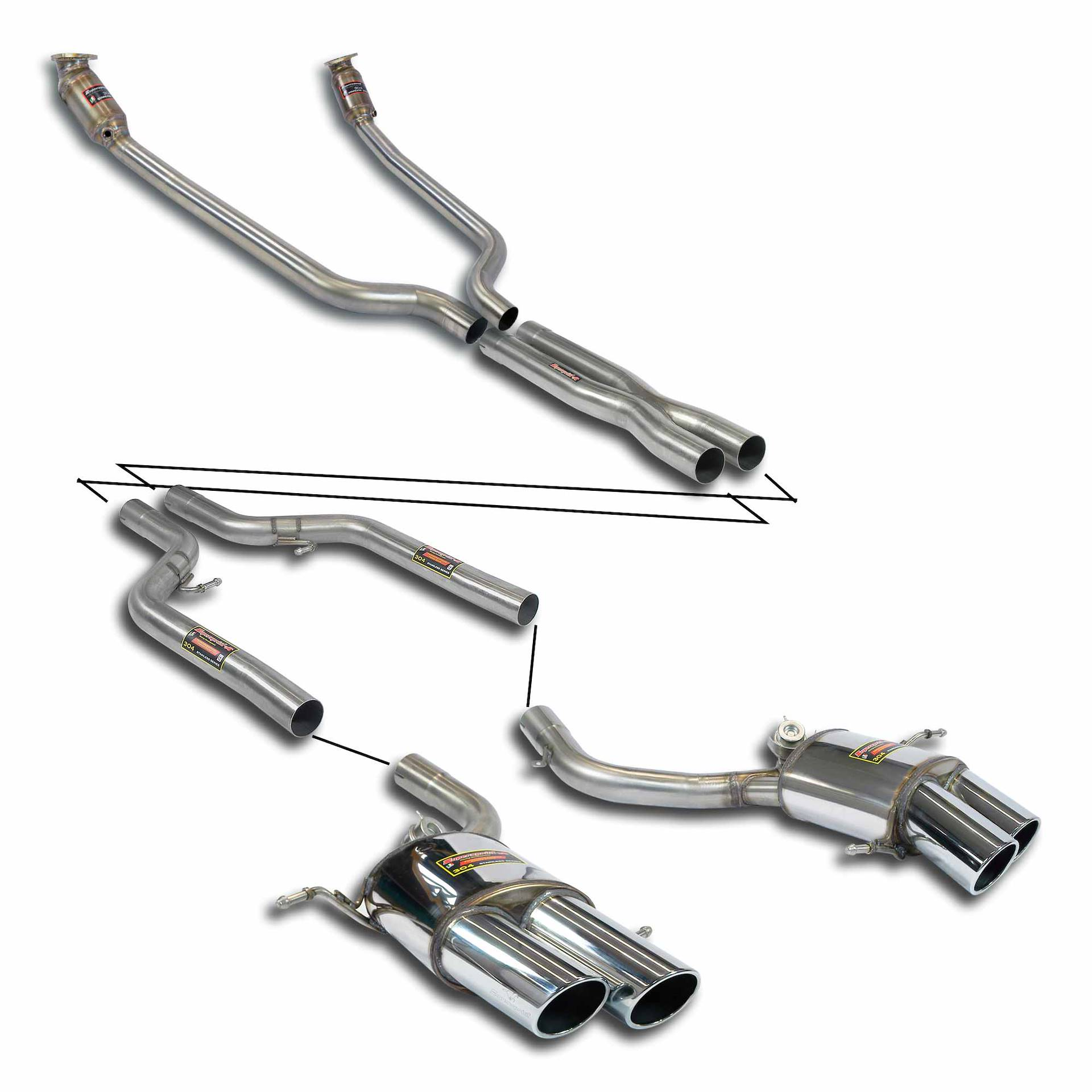 Supersprint Exhaust For Maserati Grancabrio Sport 4 7i V8