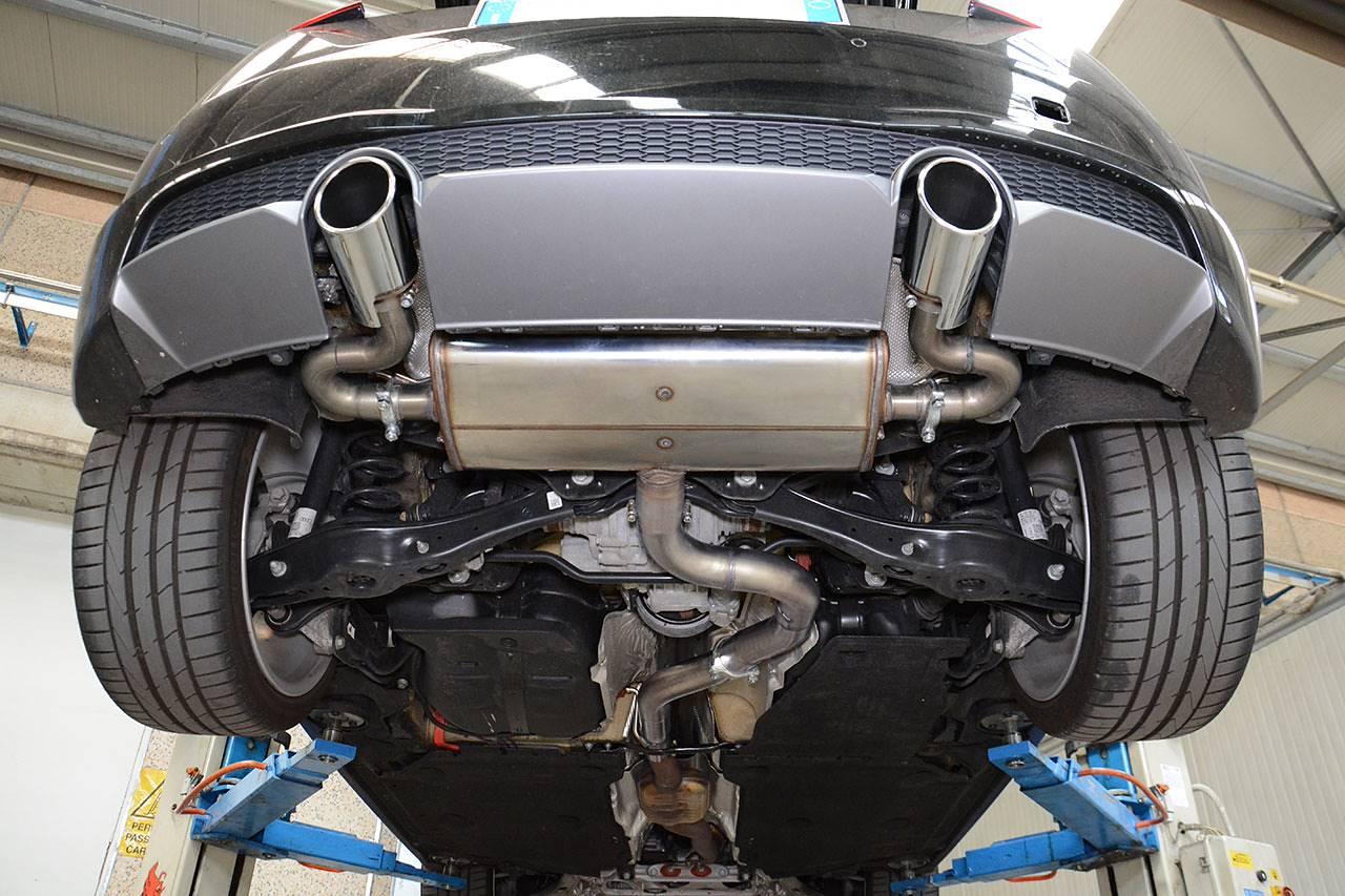 new sport exhaust for audi tt mk3 2 0 tfsi