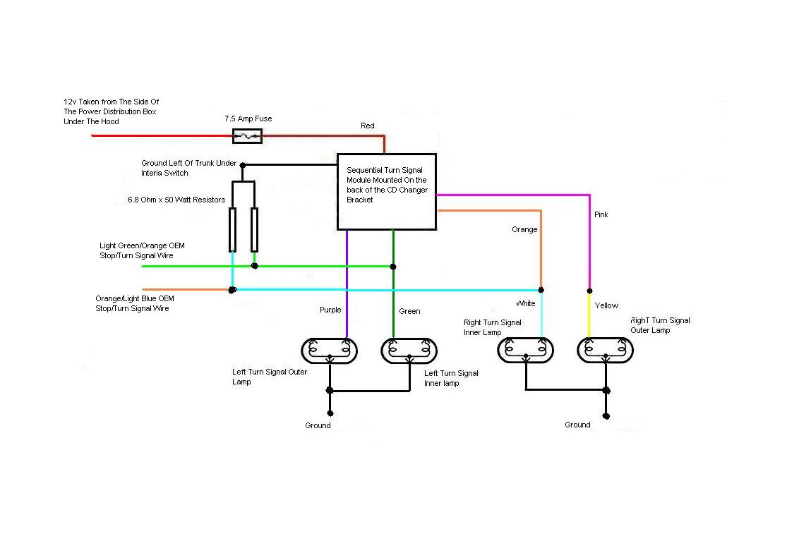 sequential turn lights wiring diagram