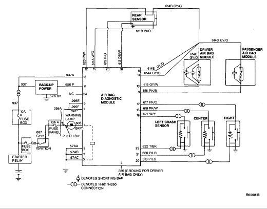 1992 Mercedes airbag module schematics