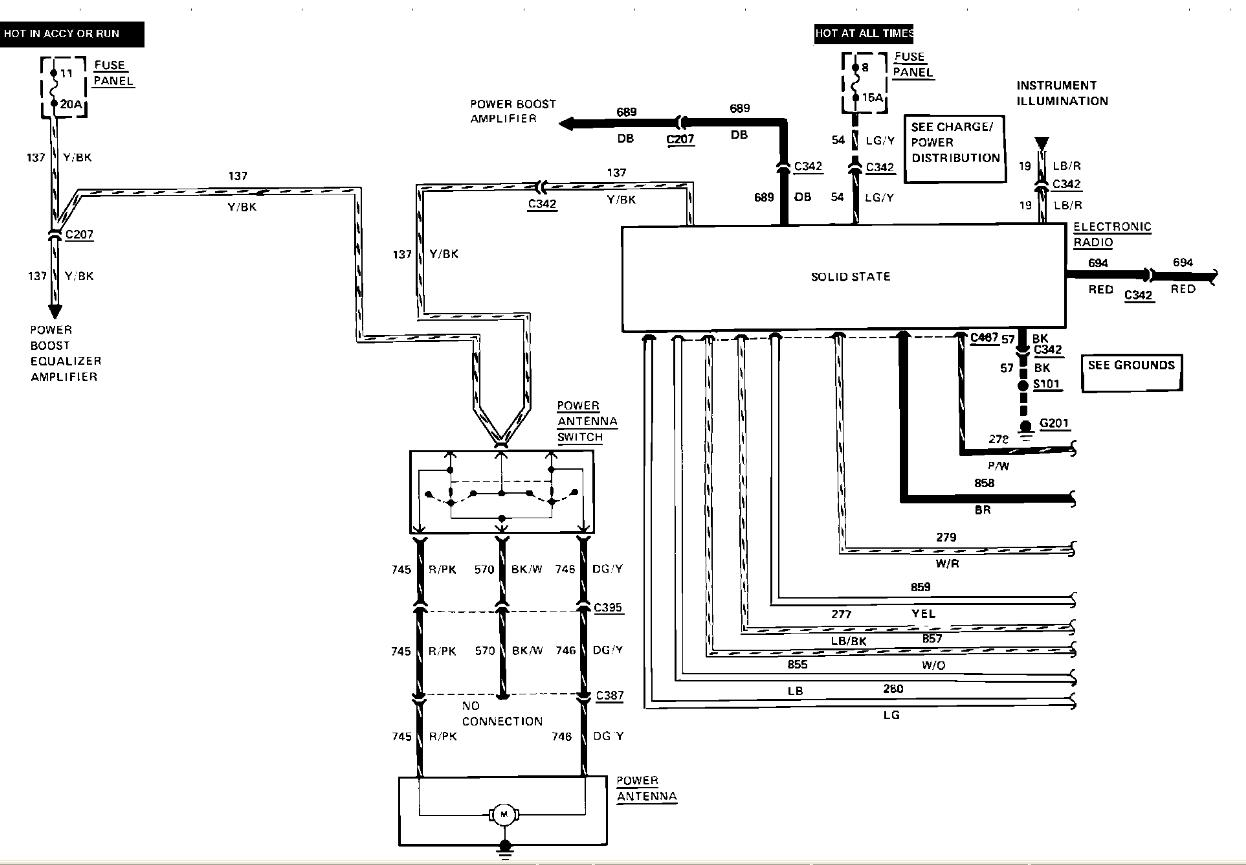 94 Lincoln Town Car Wiring Schematic