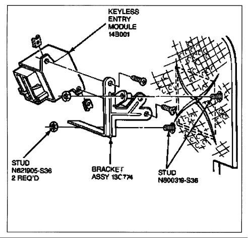 1995 Lincoln Town Car Climate Control Module