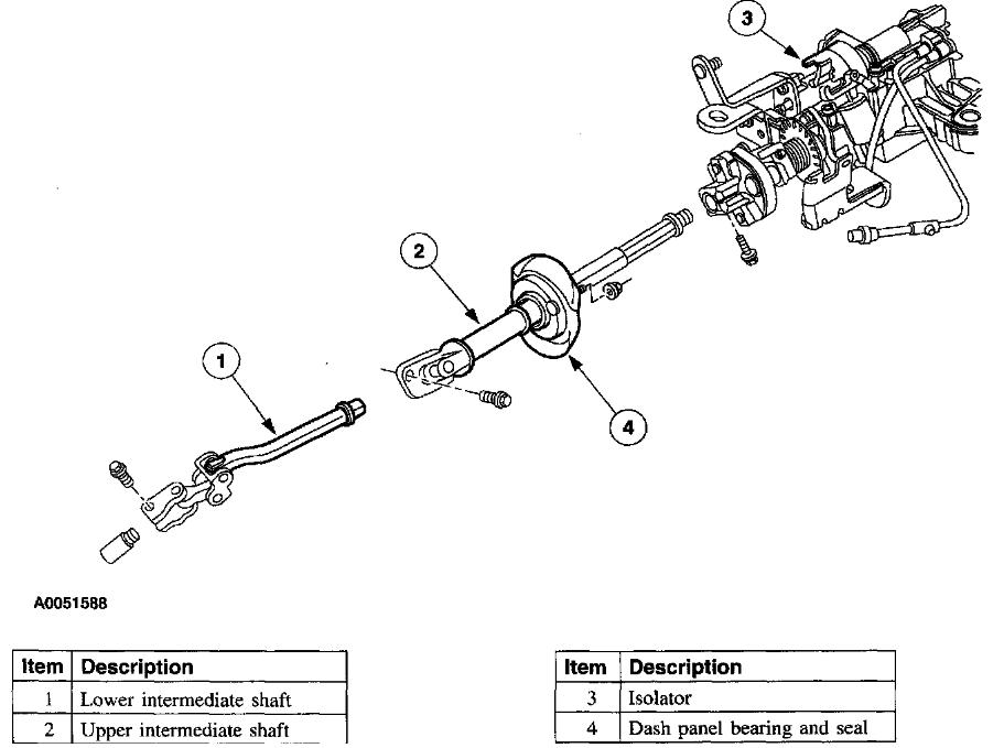 2004 Chrysler Sebring Steering Column Parts Diagram