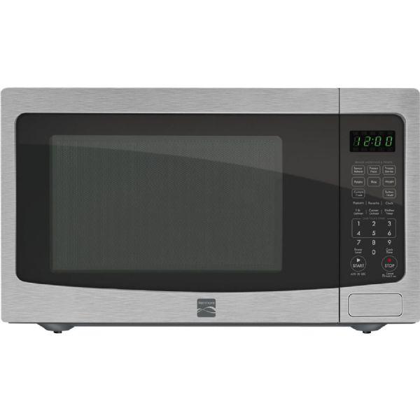 kenmore 73163 1 6 cu ft countertop stainless steel microwave