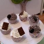 Cupcakes de oreo y de chocolate blanco
