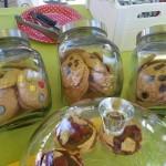 Galletas de chocolate, de lacasitos y de arandanos