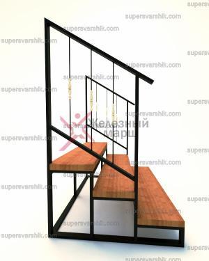 Уличная лестница из металла