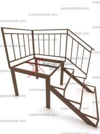 Каркас уличной лестницы на металле