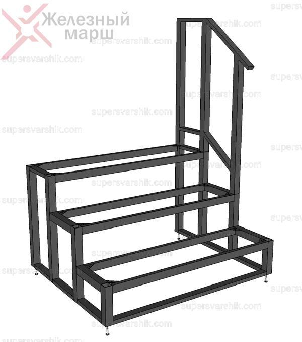 входные лестницы из металла