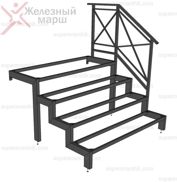 наружные лестницы из металла