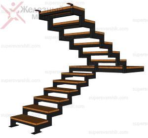 лестница на металлическом каркасе цена