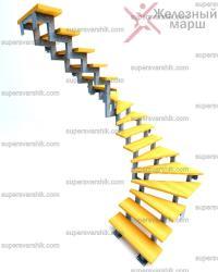 металлокаркас лестницы в дом