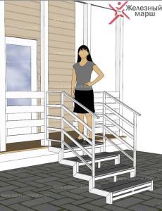 Железная лестница на улице
