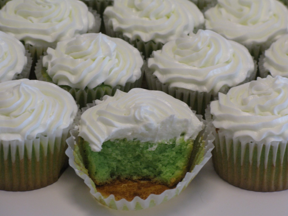 Sour Apple Cupcakes