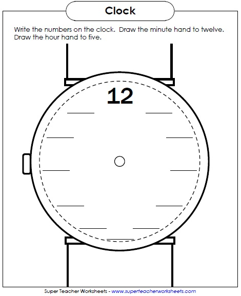 Clock Face Worksheet