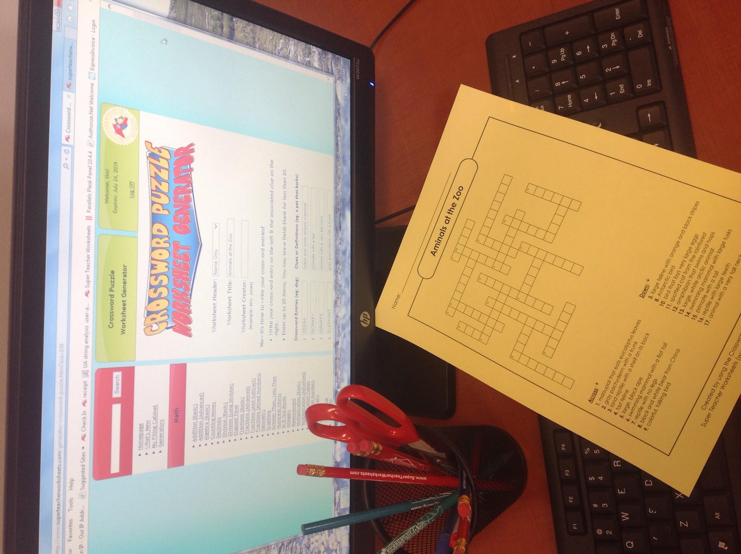 Crossword Puzzle Generator For Teachers